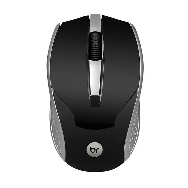 Mouse Óptico Usb Brasil 800 Dpi Preto e Prata Bright 28