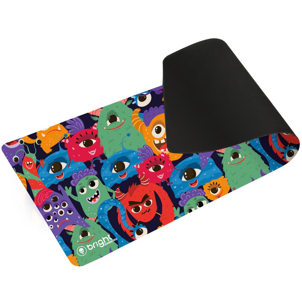 MousePad Gamer Extra Grande Monstrinhos 69x28 Antiderrapante  - BRIGHT
