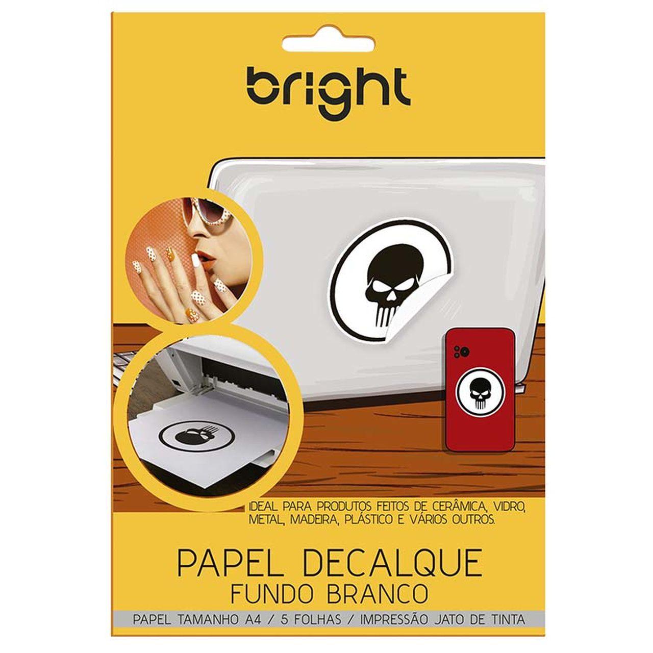 Papel Decalque Fundo Branco 5 Folhas A4 522 - Bright