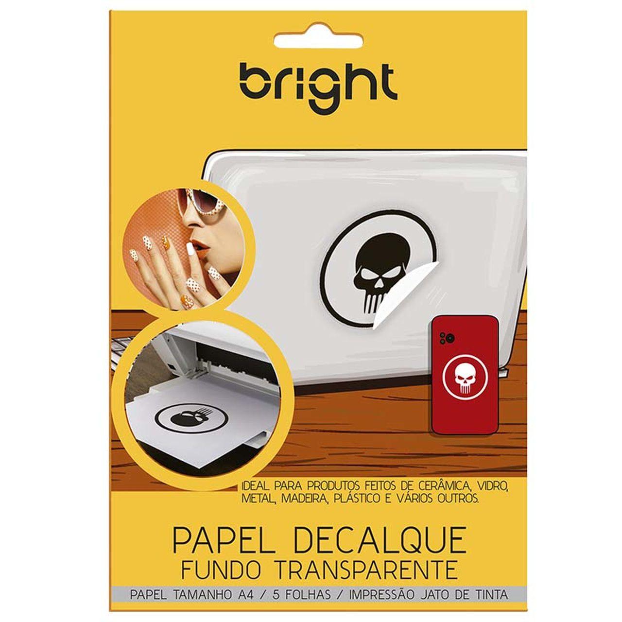 Papel Decalque Fundo Transparente 5 Folhas A4 521 - Bright