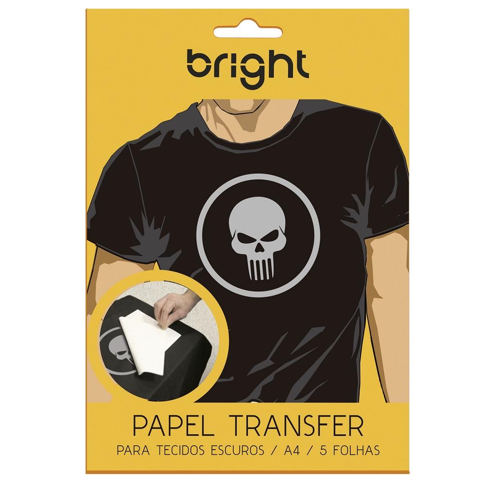 Papel Transfer Para Tecido Escuro A4 com 5 Folhas 020 Bright