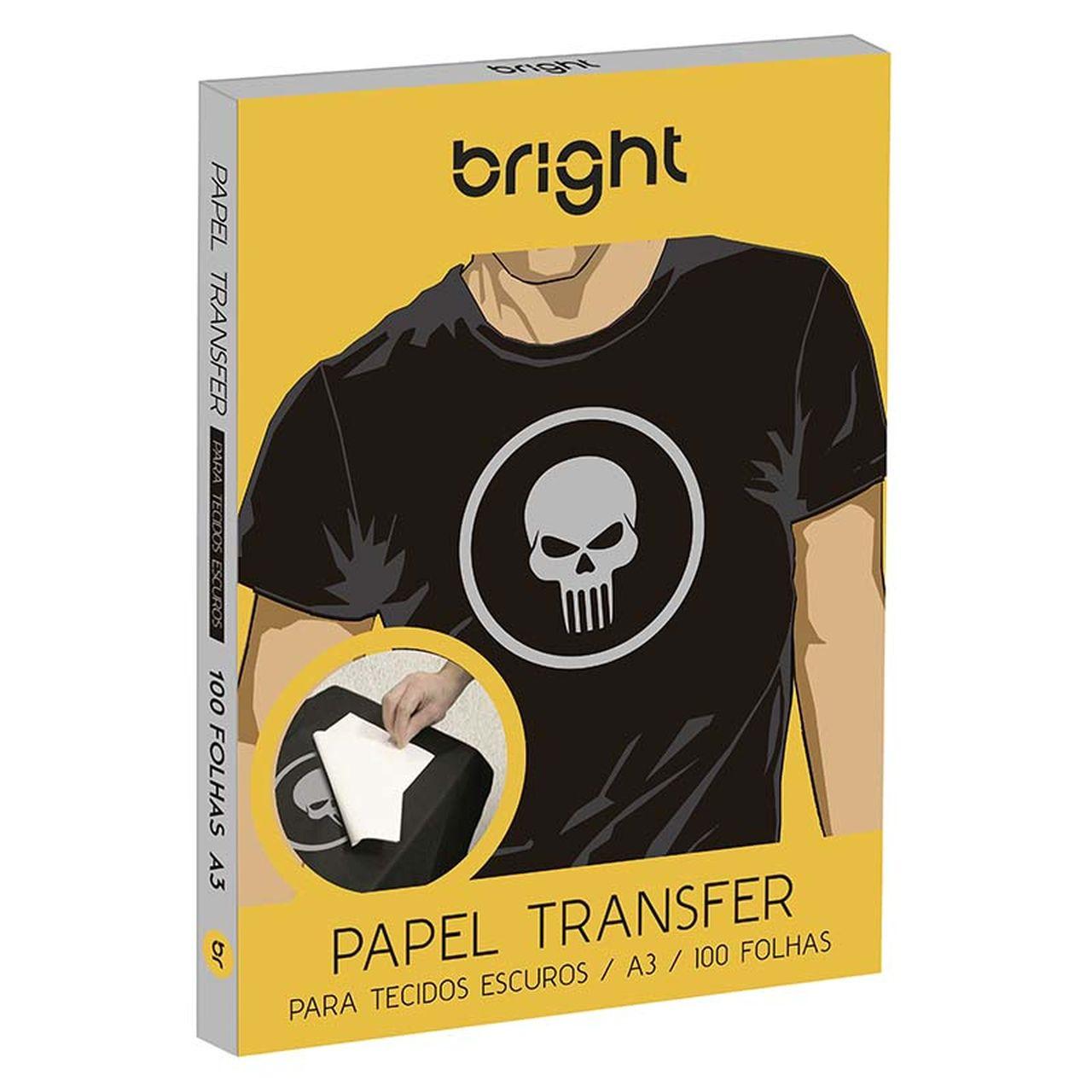 Papel Transfer para tecido escuro A3 50 folhas 427 - Bright