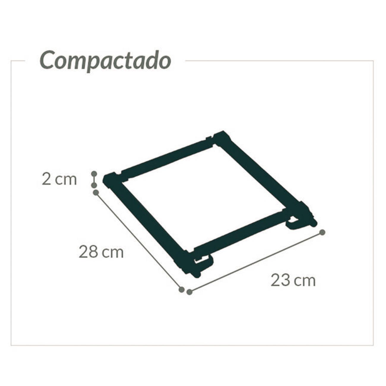 Suporte para Notebook Ergonômico Preto Ajustável AC578 Reliza