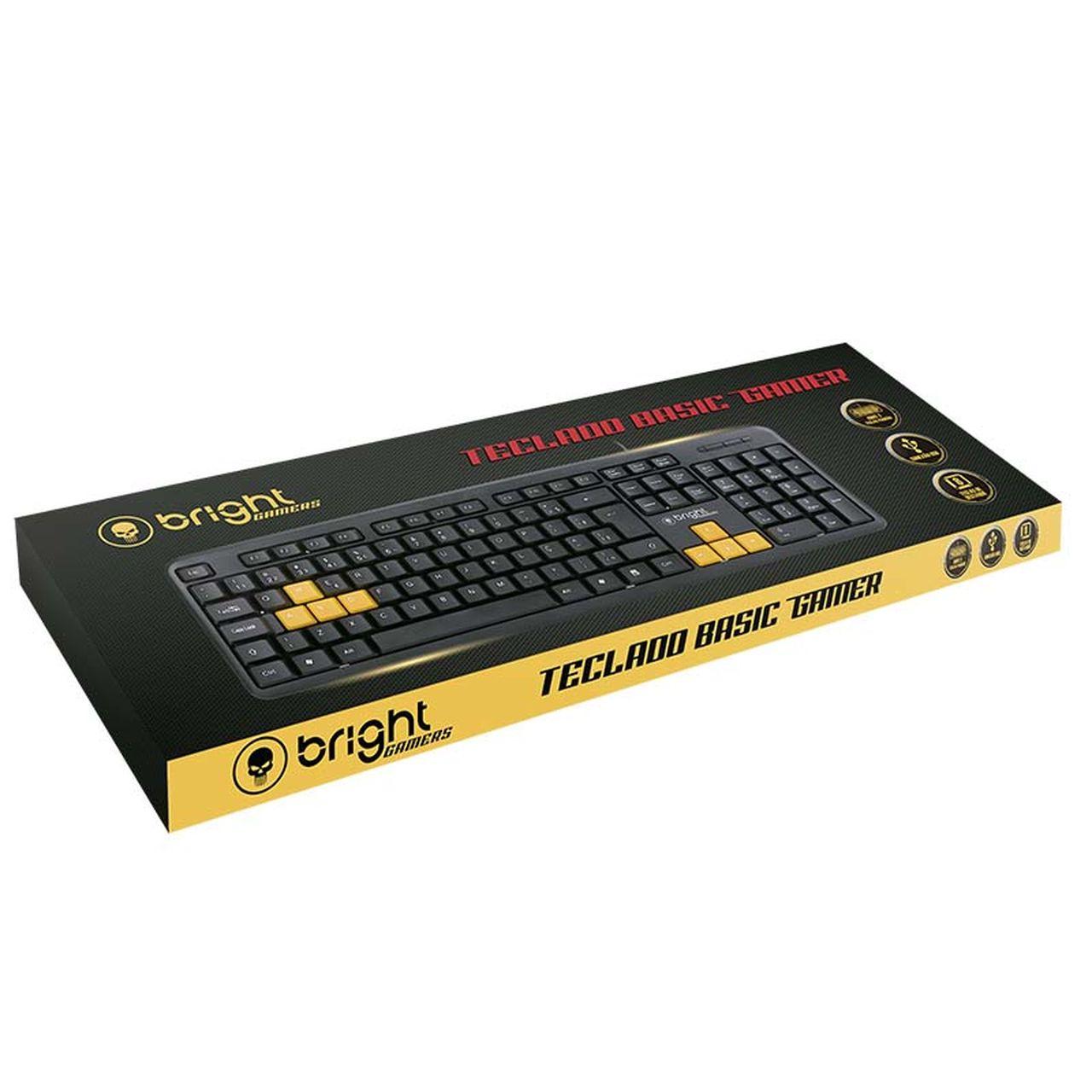 Teclado Gamer Basic USB Qwerty Abnt2 Preto 551 - Bright