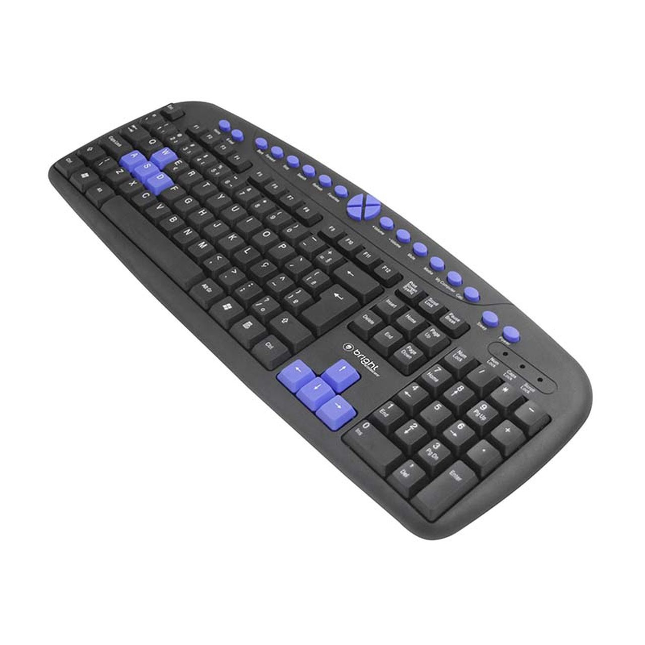 Teclado Gamer Multimídia Azul Qwerty Abnt2 483 - Bright