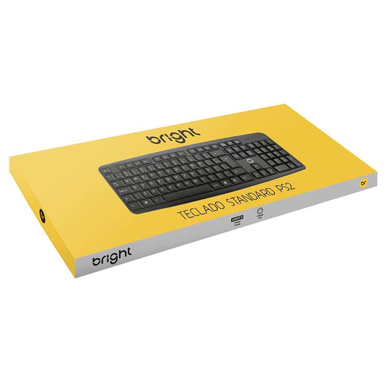 Teclado PS2 Basic Preto 1824 - Bright