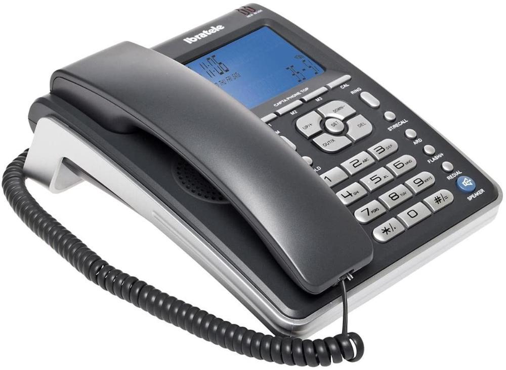 Telefone fixo Ibratele Capta Phone Com Viva-voz Top Cinza