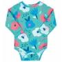 Body Praia Infantil Flores Turquesa Up Baby