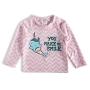 Camiseta Praia Bebê Unibaleia Rosa Tip Top
