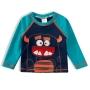 Camiseta Praia Infantil Monstro Azul Tip Top