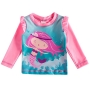 Camiseta Praia Infantil Sereias Rosa Tip Top