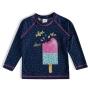 Camiseta Praia Infantil Sorvetes Marinho Tip Top