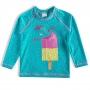 Camiseta Praia Infantil Sorvetes Turquesa Tip Top
