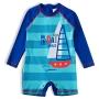 Macaquinho Praia Infantil Barcos Azul Royal Tip Top