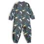 Pijama Macacão Infantil Dinos Cinza Tip Top