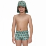 Sunga Boxer Infantil Abacaxi Verde Accua UV.Line