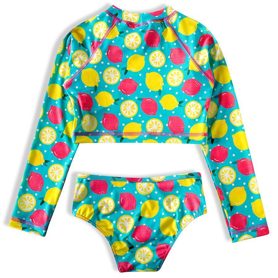 Biquíni Infantil  Cropped Limão Siciliano Amarelo Tip Top