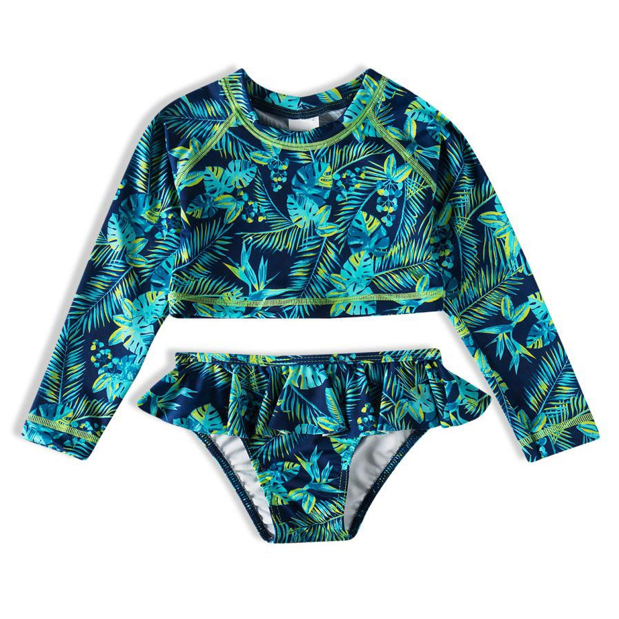 Biquíni Infantil  Cropped Tropical Marinho Tip Top