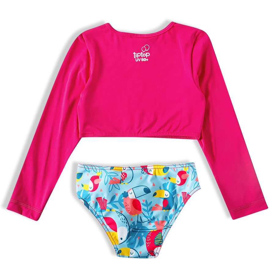 Biquíni Infantil  Cropped Tucano Pink Tip Top