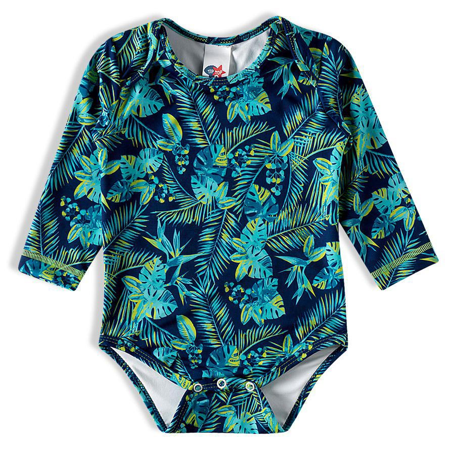 Body Praia Bebê Tropical Marinho Tip Top
