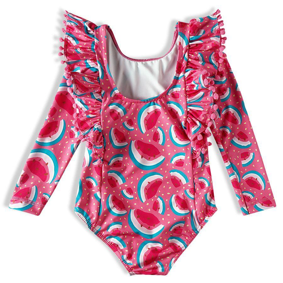 Body Praia Infantil Melancias Rosa Tip Top