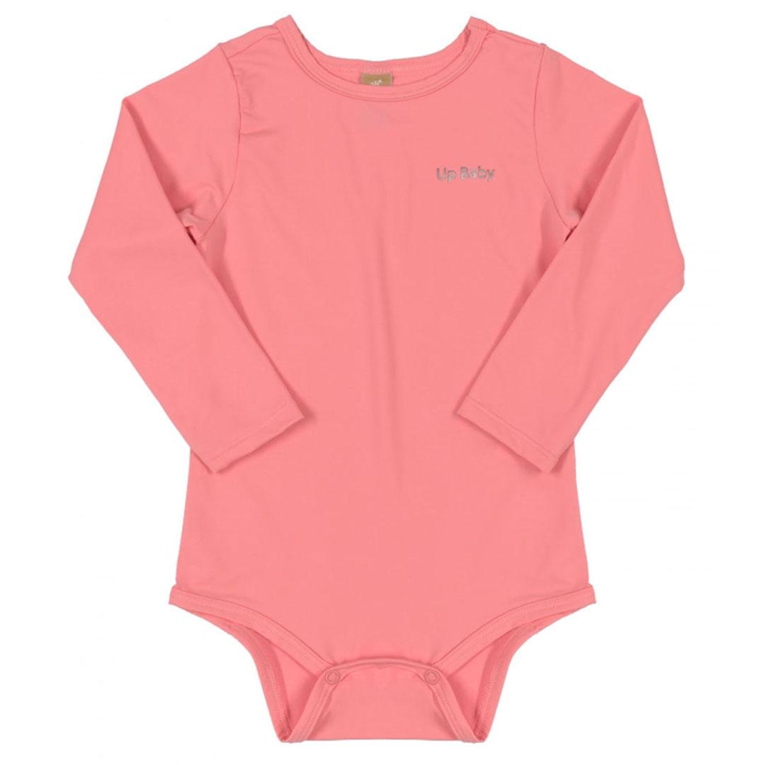Body Praia Infantil Rosa Flúor Up Baby