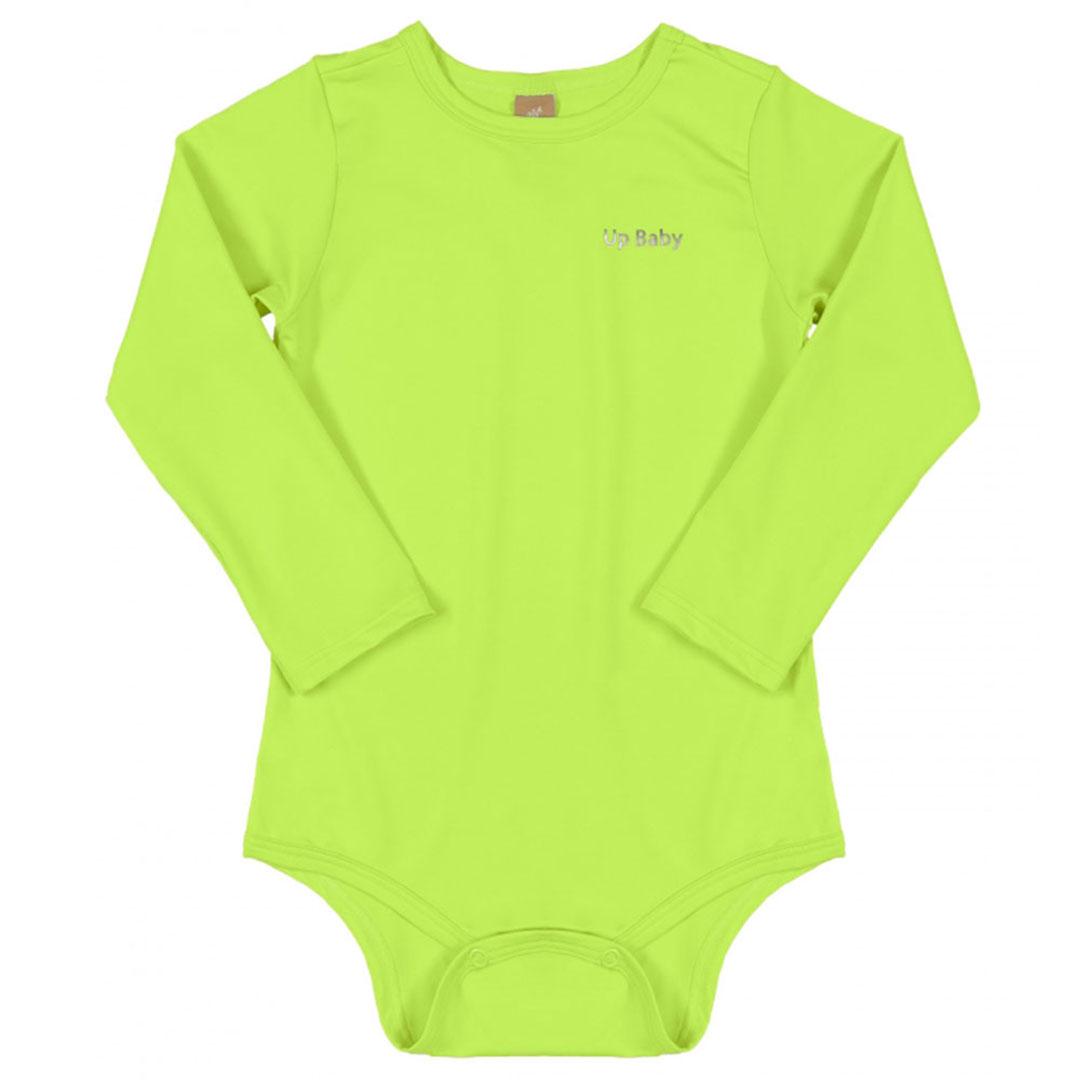 Body Praia Infantil Verde Limão Up Baby