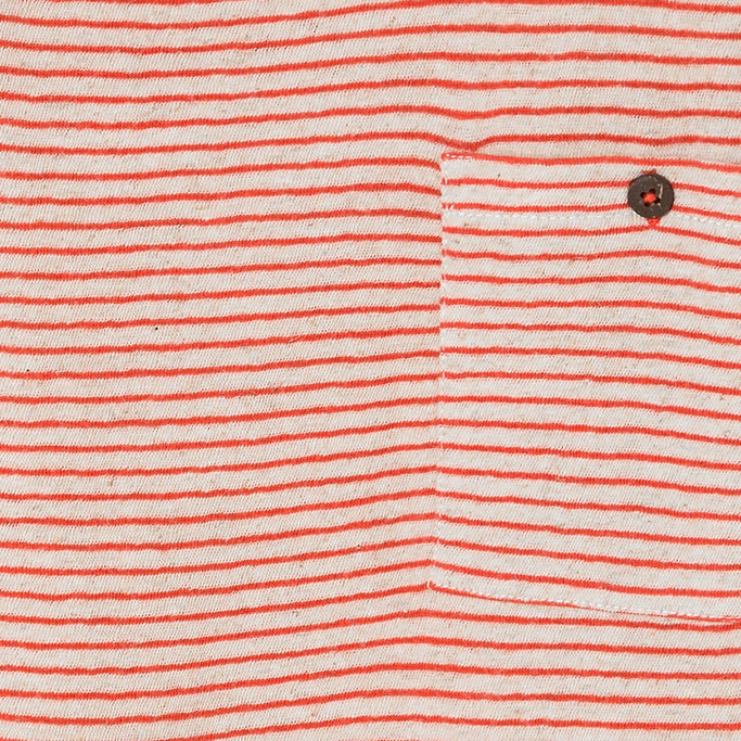Camiseta Infantil Manga Curta Listrada Laranja Brotes