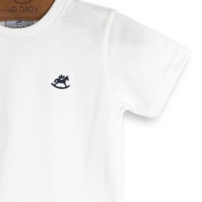 Camiseta Infantil Manga Curta Branca Up Baby