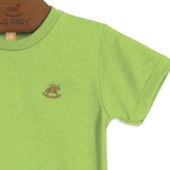 Camiseta Infantil Manga Curta Verde Up Baby
