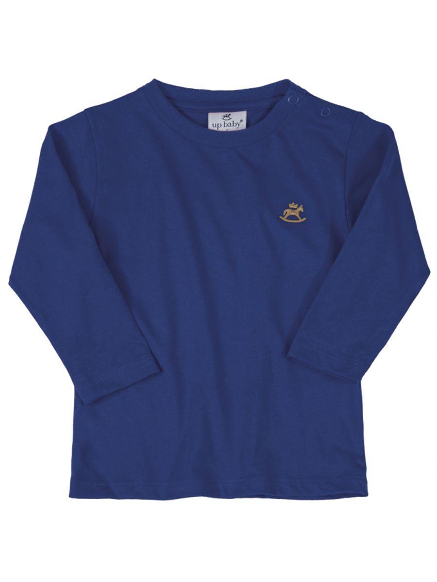 Camiseta Infantil Manga Longa Azul Tree Up Baby