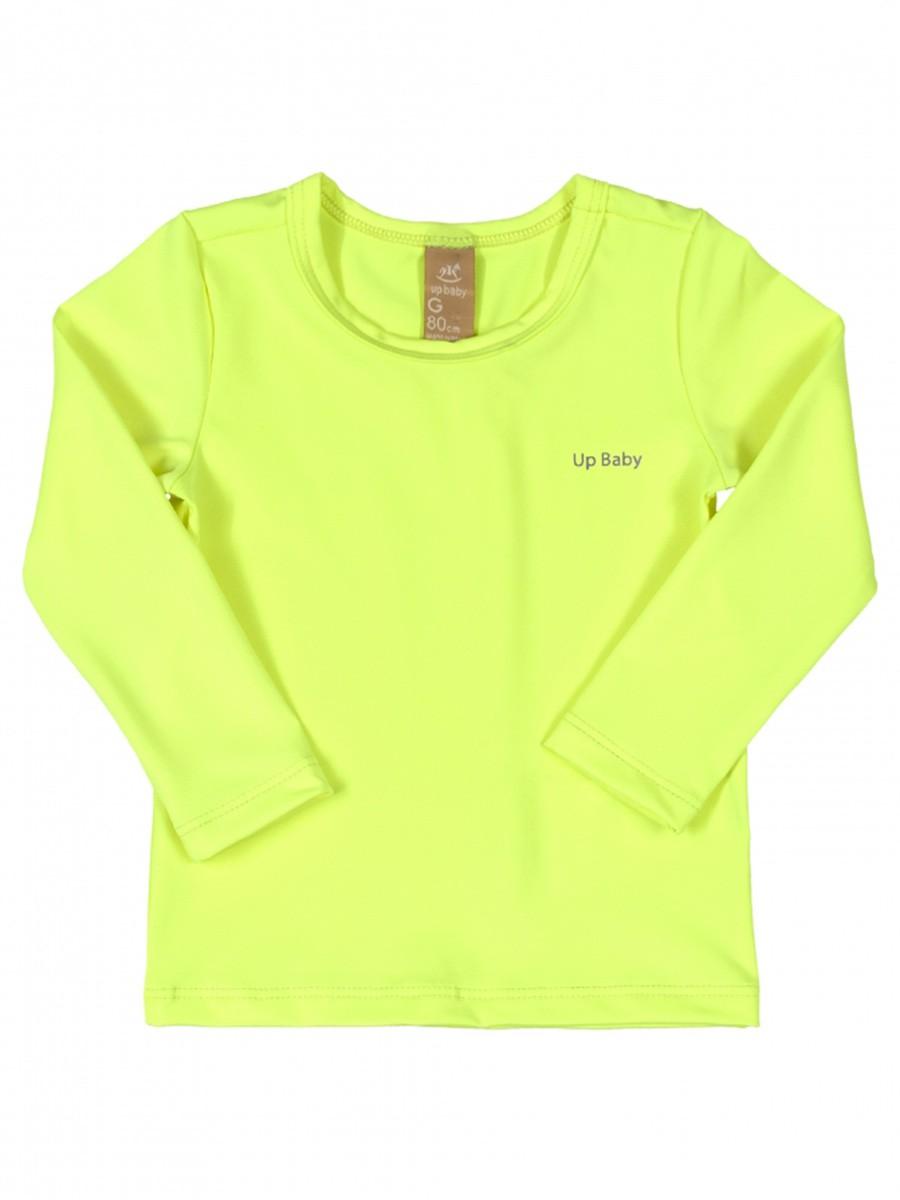 Camiseta Praia Bebê Amarelo Neon Up Baby