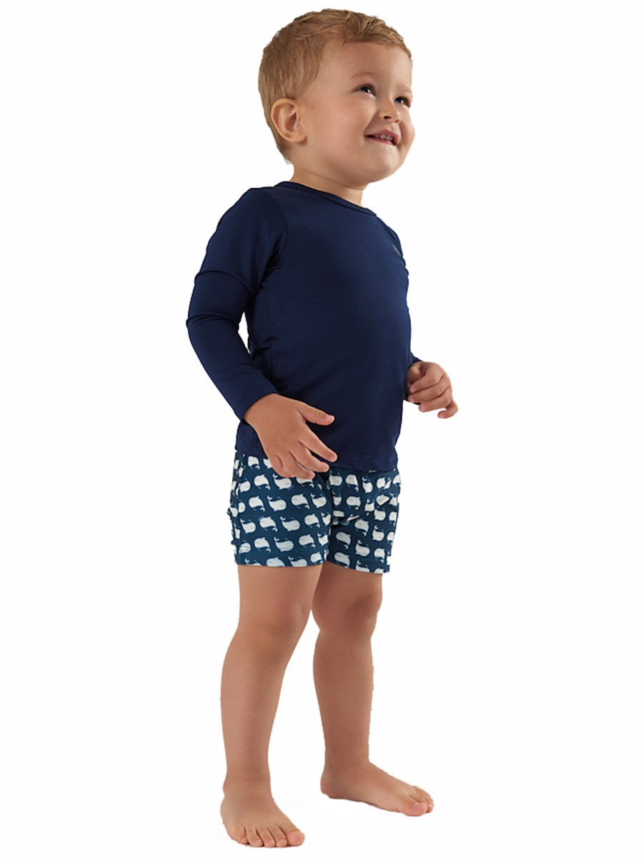 Camiseta Praia Bebê Azul Up Baby