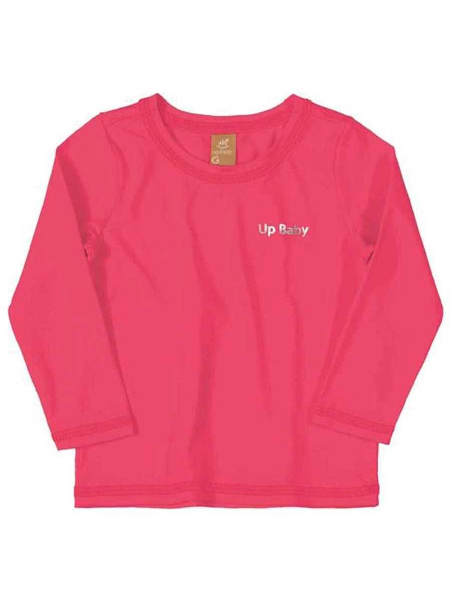Camiseta Praia Bebê Neon Rosa Up Baby