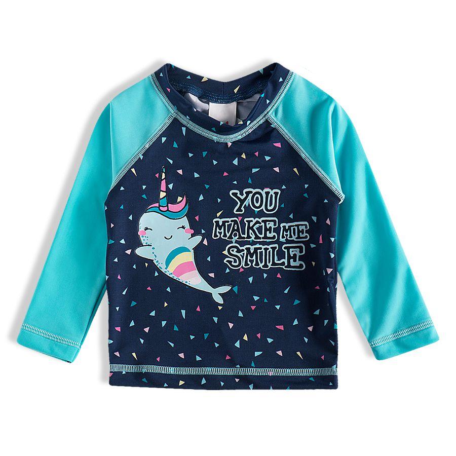Camiseta Praia Infantil Unibaleia Marinho Tip Top