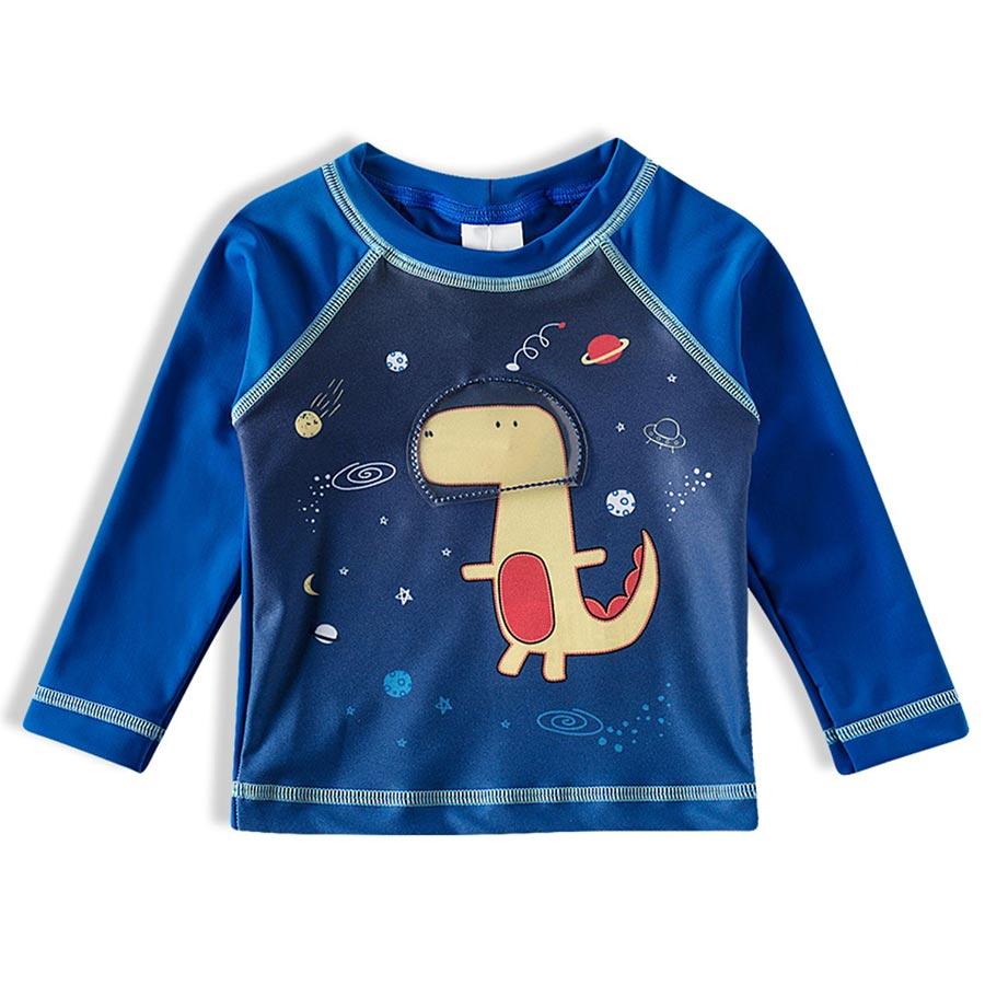 Camiseta Praia Infantil Astrodino Azul Royal Tip Top
