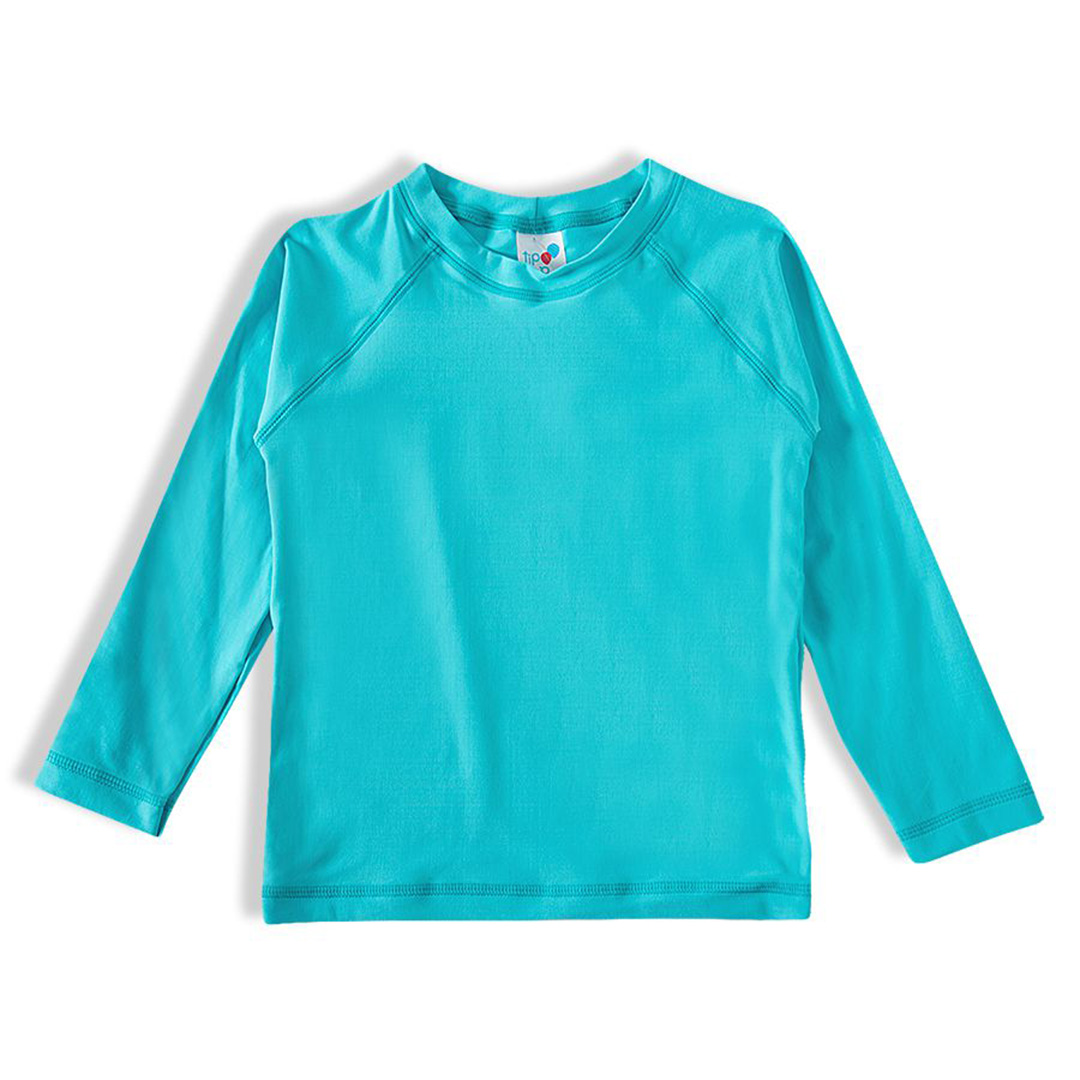 Camiseta Praia Infantil Azul Turquesa Tip Top