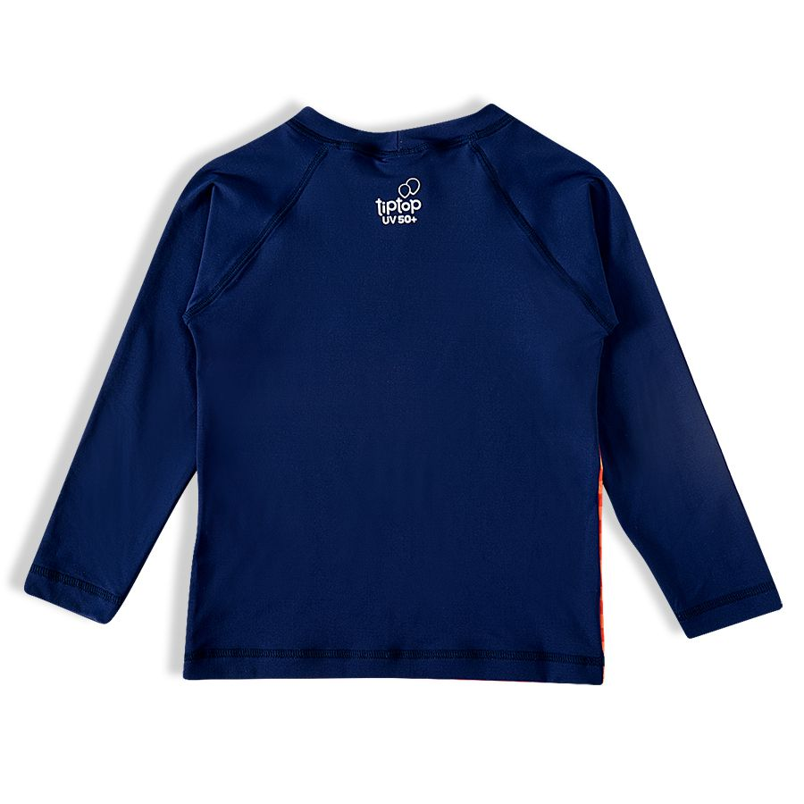 Camiseta Praia Infantil Dino Rabisco Marinho Tip Top