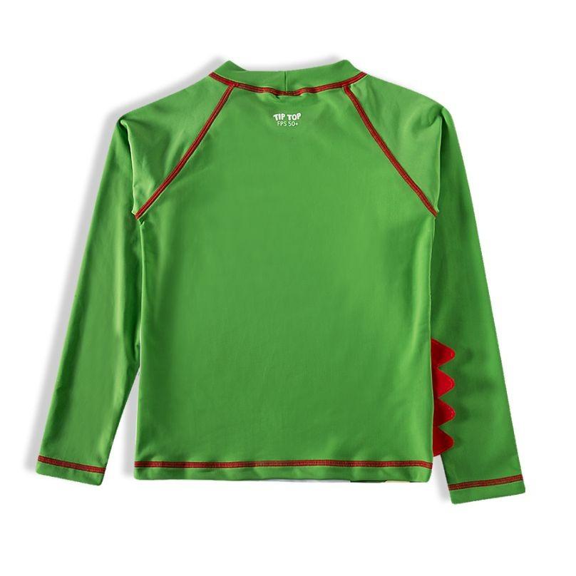 Camiseta Praia Infantil Jacaré Verde Tip Top
