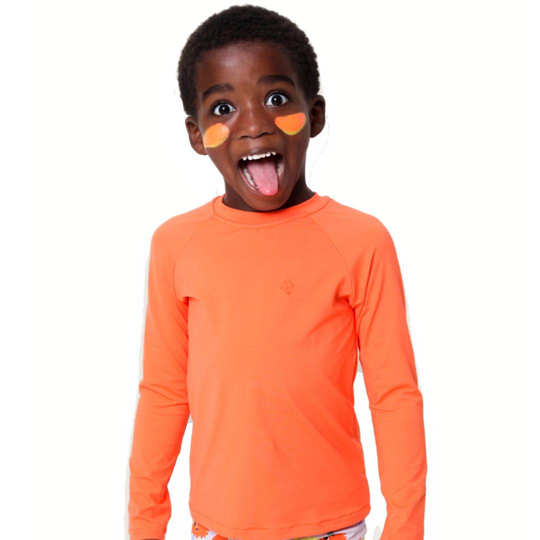 Camiseta Praia Infantil Laranja Pipa