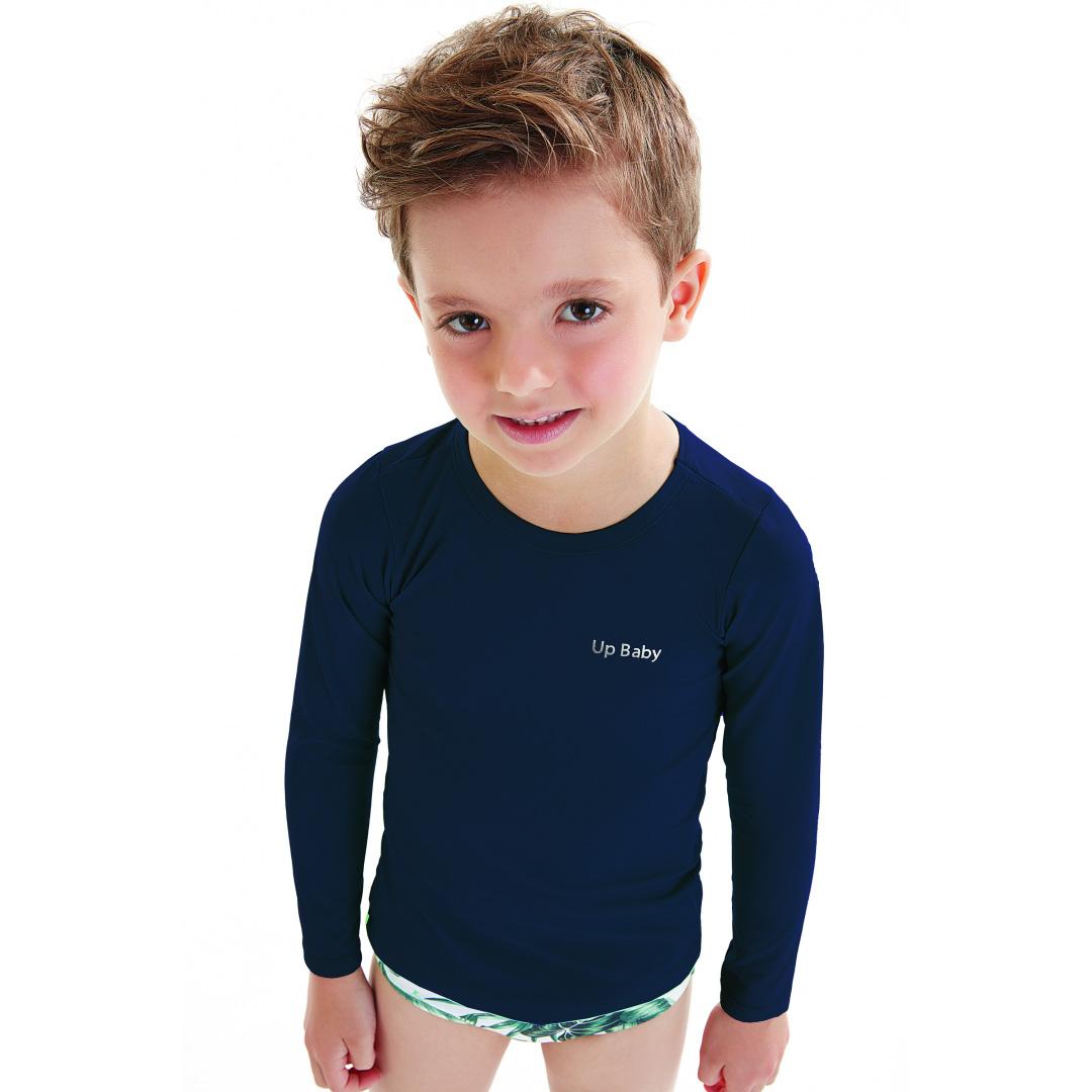 Camiseta Praia Infantil Marinho Up Baby