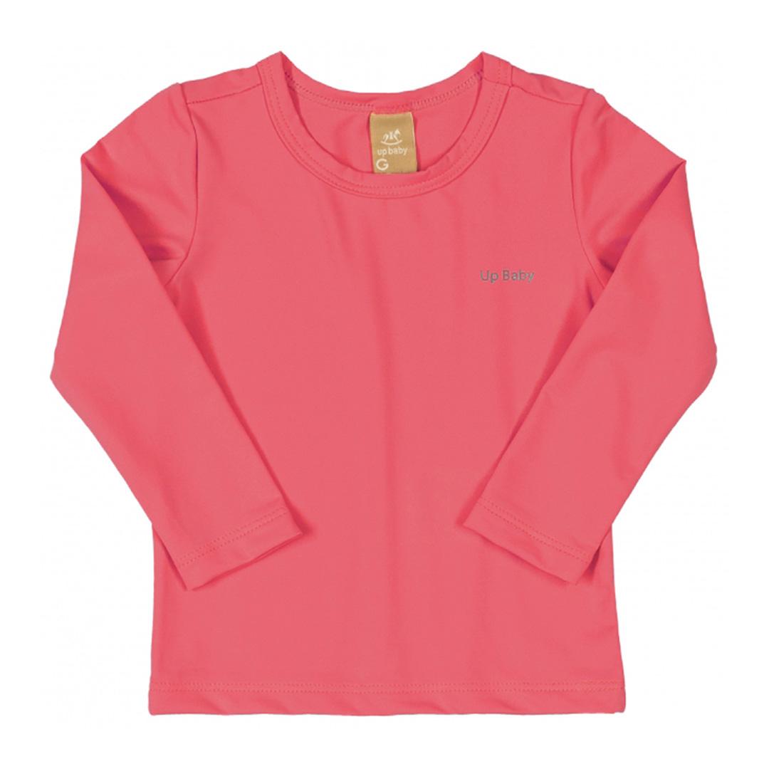 Camiseta Praia Infantil Pink Flúor Up Baby