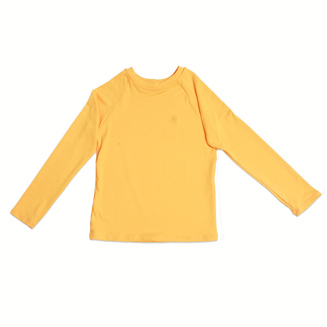 Camiseta Praia Infantil Proteção UV80 Amarela Pipa