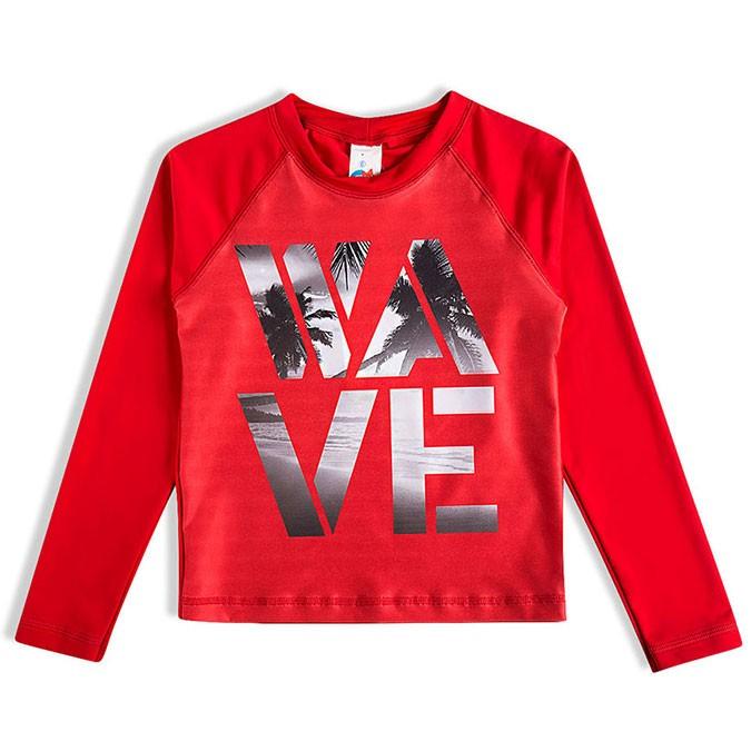 Camiseta Praia Infantil Surf Vermelha Tip Top
