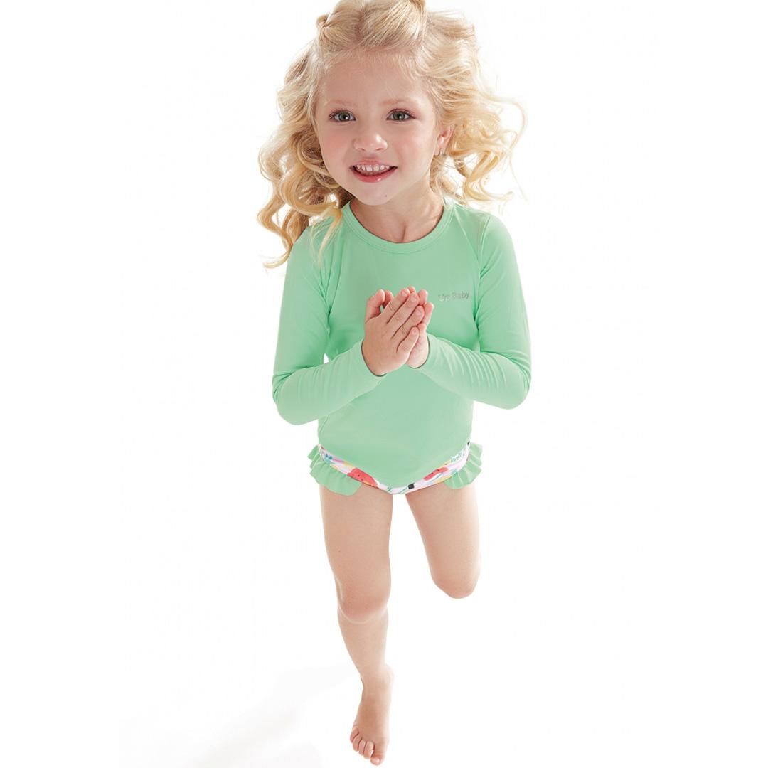 Camiseta Praia Infantil Verde Broto Up Baby