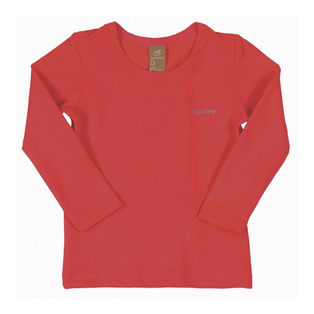 Camiseta Praia Infantil Vermelho Tomate Up Baby