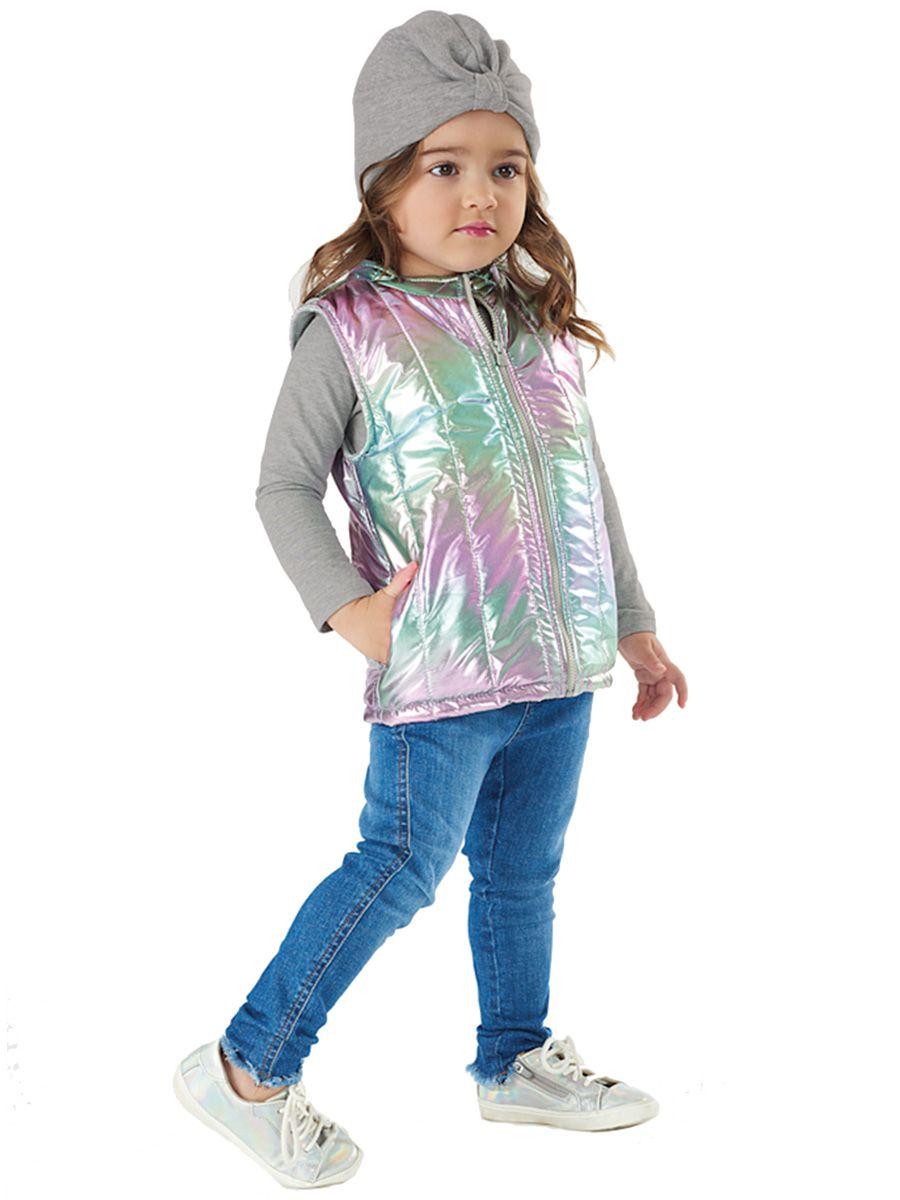 Colete Infantil em Tecido Metalizado Cinza Glacier Up Baby