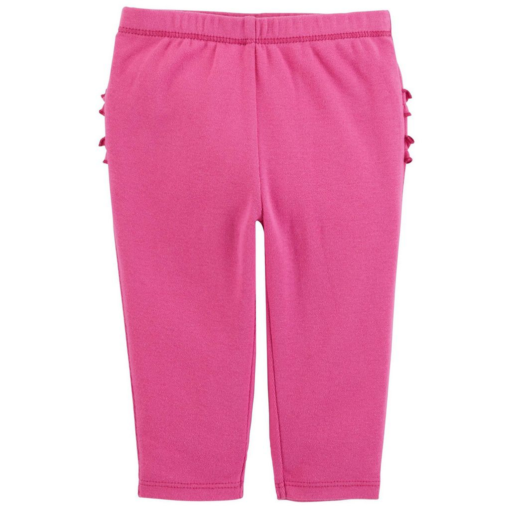 Kit 2 Leggings com Babados Pink e Azul Marinho Carter´s
