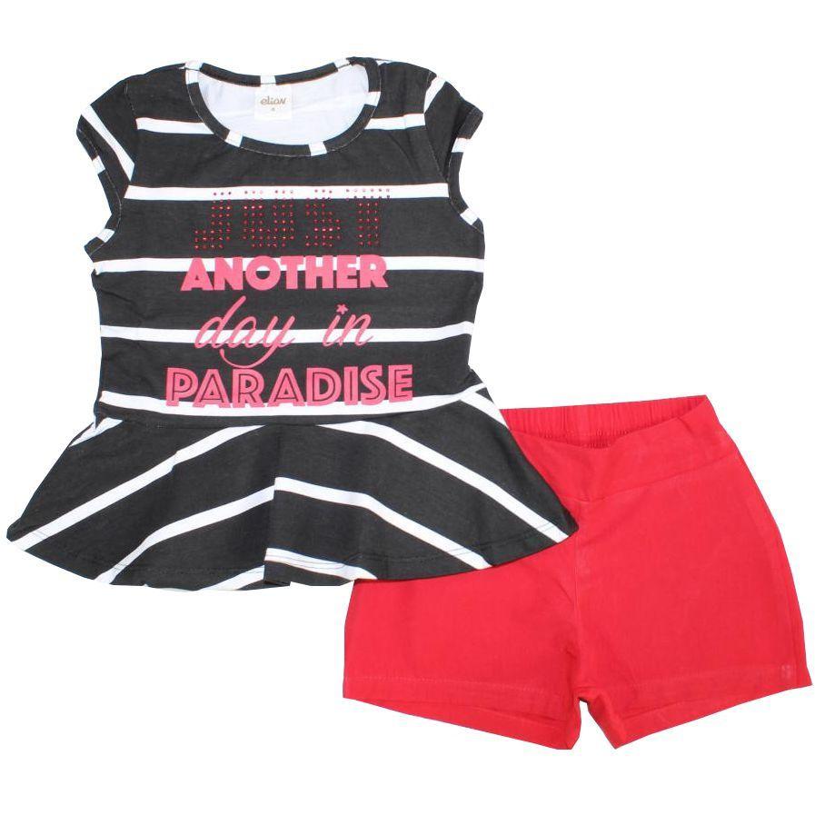 Conjunto Infantil Blusa Cotton Vermelho Elian