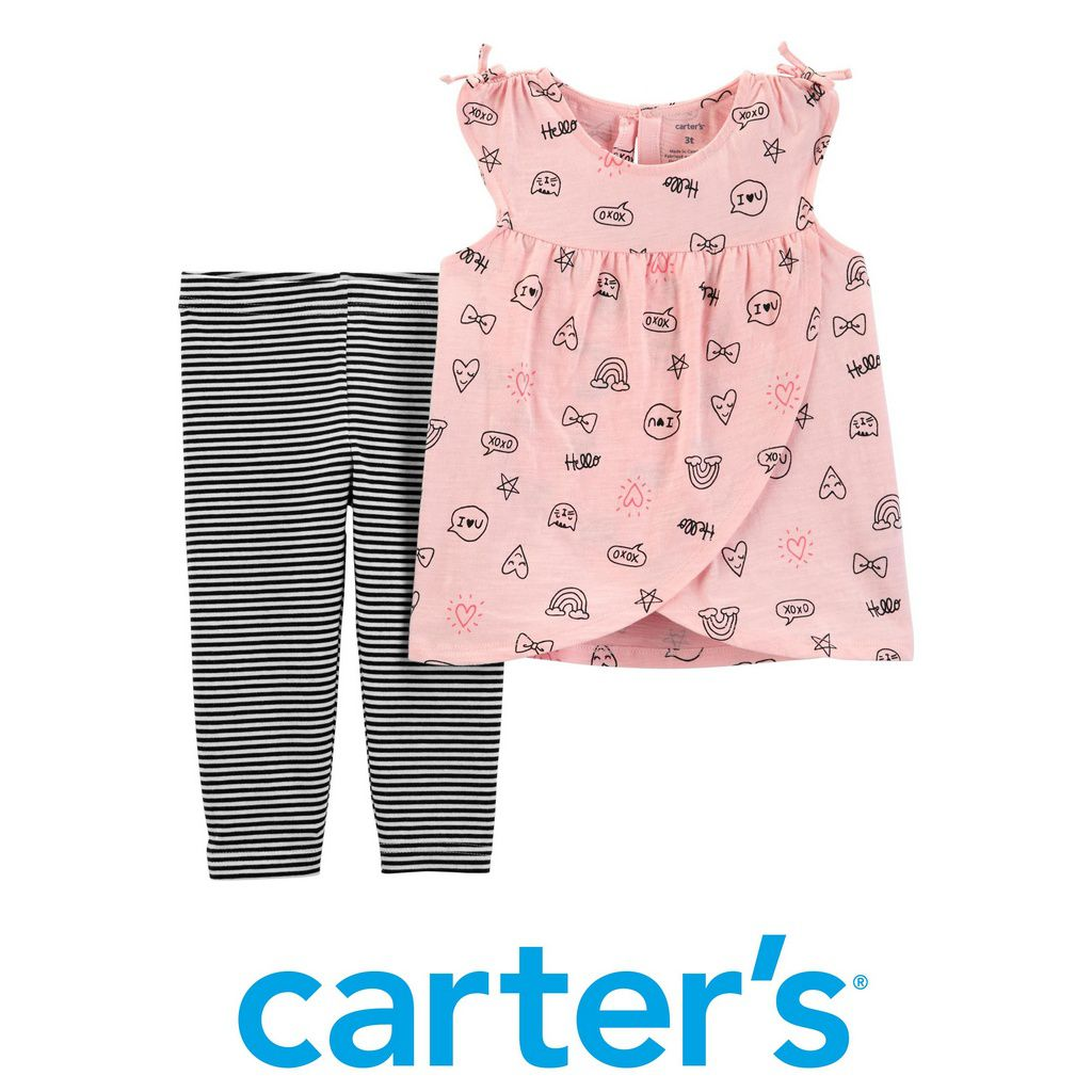 Conjunto Blusa e Legging Desenhos Rosa Carter´s